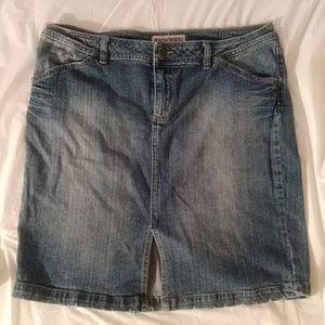 Blue Jean Skirt (XL) by Bisou Bisou